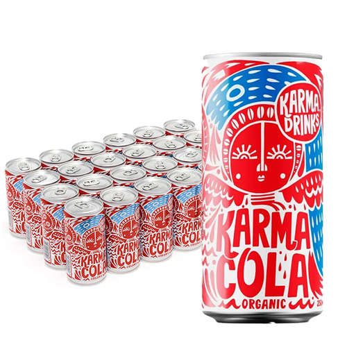 Best Selling Fairtrade Organic Karma Cola 24 x 250ml Cans