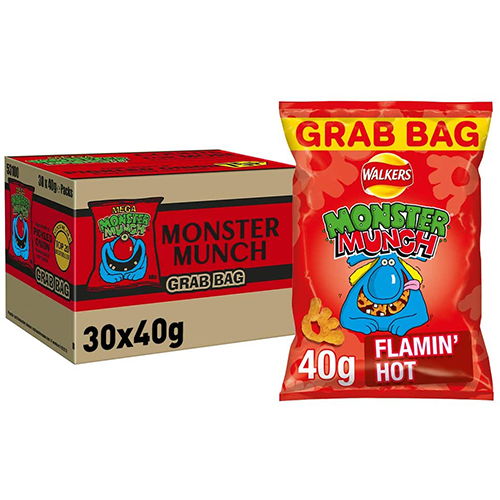 Monster Munch, a famous name in the UK Crips scene. All flavours are a fan favourite and the Flaming Hot Monster Munch Flavour is a good contender