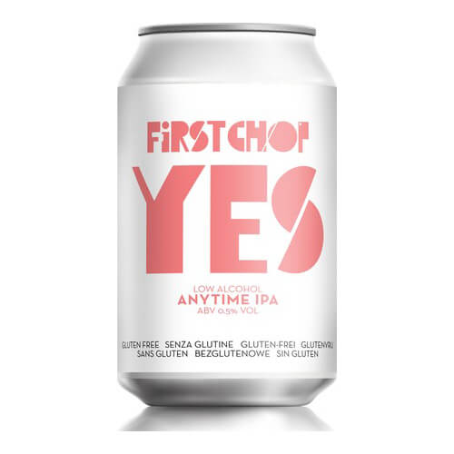 First Chop YES Gluten Free Low Alcohol Anytime IPA - 24 x 330ml