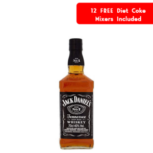 Jack Daniels With 12 Free Coke Mixers Gift Set