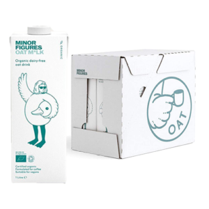 Premium Minor Figures Barista Oat Milk 6 x 1 Litre Cartons. The Oat Milk from Minor Figures has been an absolute hit with an array of audiences who either require a milk alternative, want something vegan and gluten free friendly or want to add a wonderful addition to their meals or beverages.