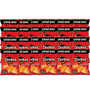 The perfect snack for Bars, Homes, Pubs, Cafe's and much more. Doritos dominate the spicy crisp market with these nation favourite crisps.