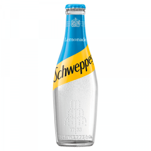 schweppes lemonade 200ml glass 24