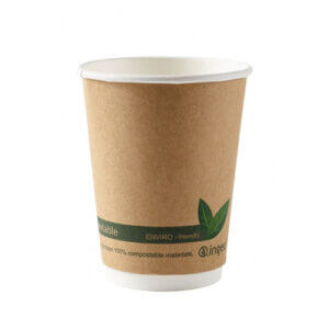 12oz Compostable Double Walled Cups x 500