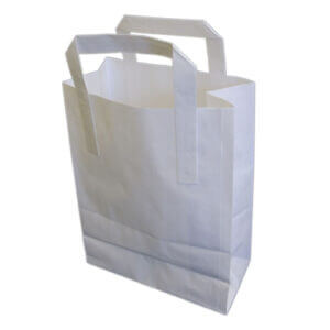 Large White SOS Carrier Bags x 250