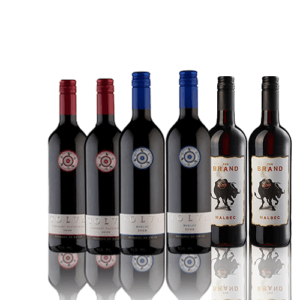 Premium New World Red Wine Mix Case of 6 2 x The Brand Malbec 750ml, 2 x Tolva Cabernet Sauvignon 750ml, 2 x Tolva Merlot 750ml