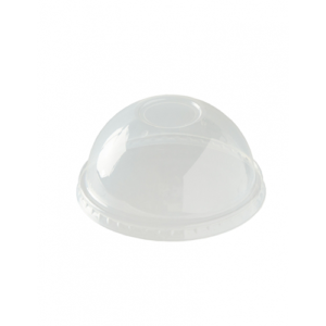 High Quality Domed Compostable Smoothie Cup Lids, Fits 9oz to 20oz Cups x 1000