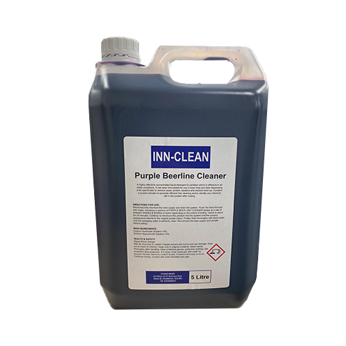 The Inn-Clean Purple Beerline Cleaner is a vital cleaning product that needs to be in your cupboard
