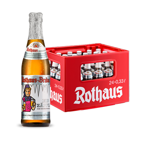 To retain the typical and well-balanced Rothaus Pils characteristics during the dealcoholization process, this beer is brewed with a higher original gravity (14.5 %) and lower IBU's (25).