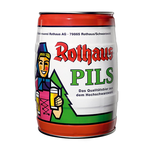 The most popular Rothaus beer is the Rothaus Pils. Now you can get it in Mini Keg Form!